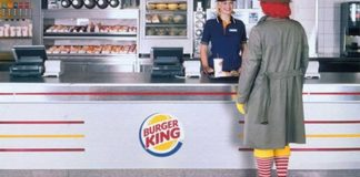 Ronald McDonald no Burger King